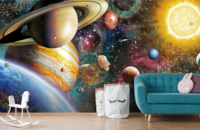 Childrens Space & Rocket Wallpaper Wallpaper Murals