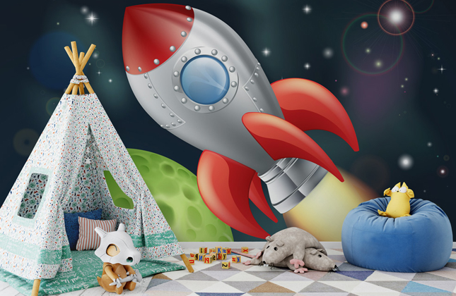Rocket Wallpaper Wallpaper Murals