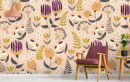 The Tiny Garden Wallpaper Murals