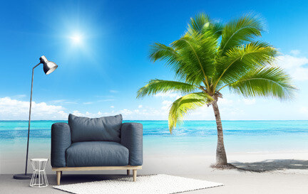 Tropical Beach Wallpaper Wallpaper Murals