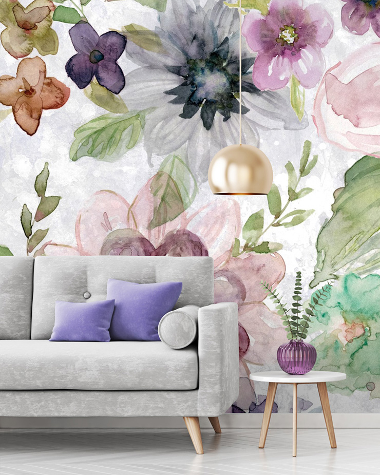 maximalist-decor-with-floral-mural