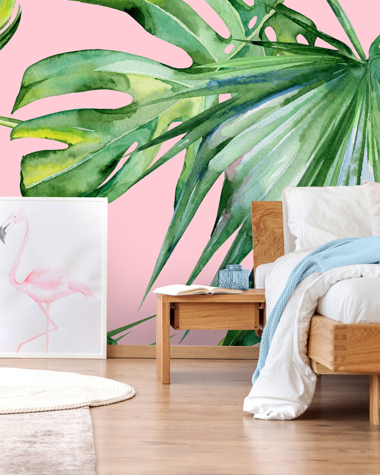 palm-tree-wallpaper-in-bedroom