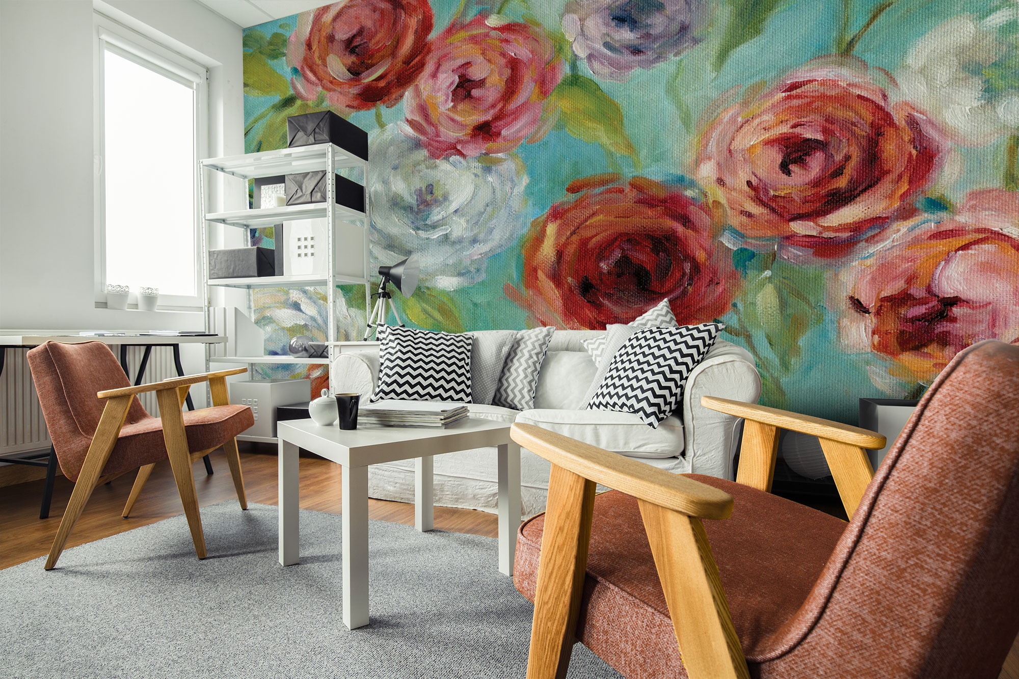 dramatic-floral-wallpaper-2018-interior-design-trends