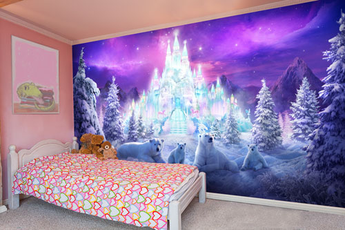 Children 39 s bedroom wall murals children 39 s photo wallpaper for Castle mural kids room
