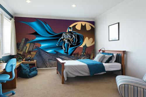 Children 39 s bedroom wall murals children 39 s photo wallpaper for Batman bedroom wall mural