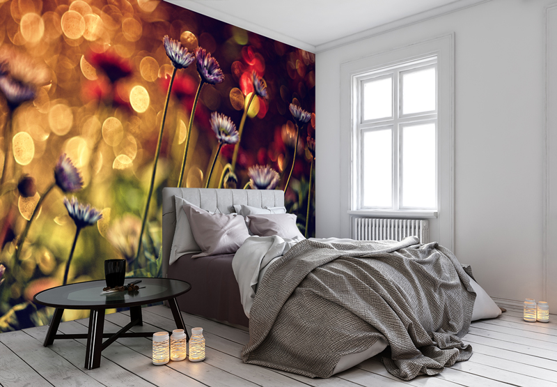 Flower-mural-in-bedroom