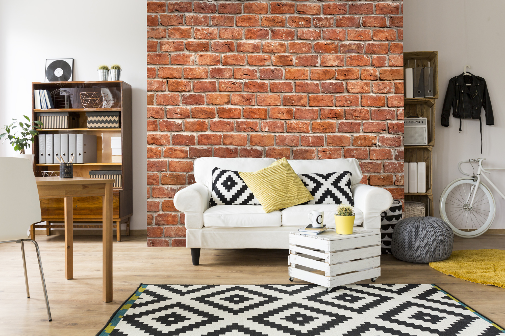Feature wallpaper: Brick wallpaper, old brick