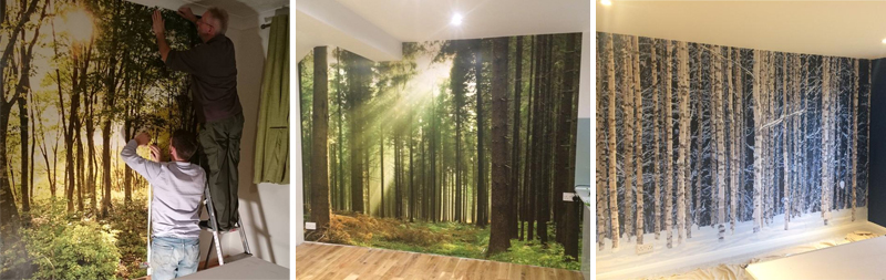 Tree murals installed by customers