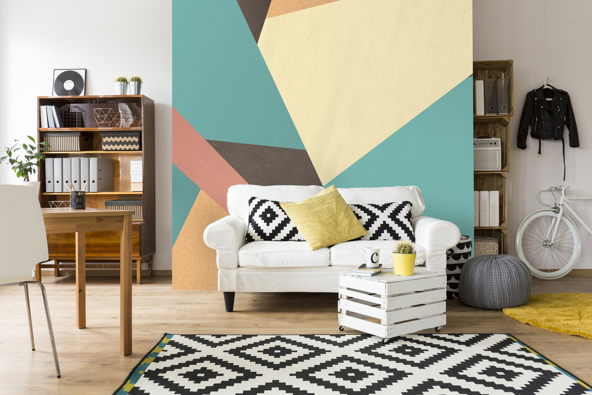 Pastel Geometric Wallpaper from Wallsauce