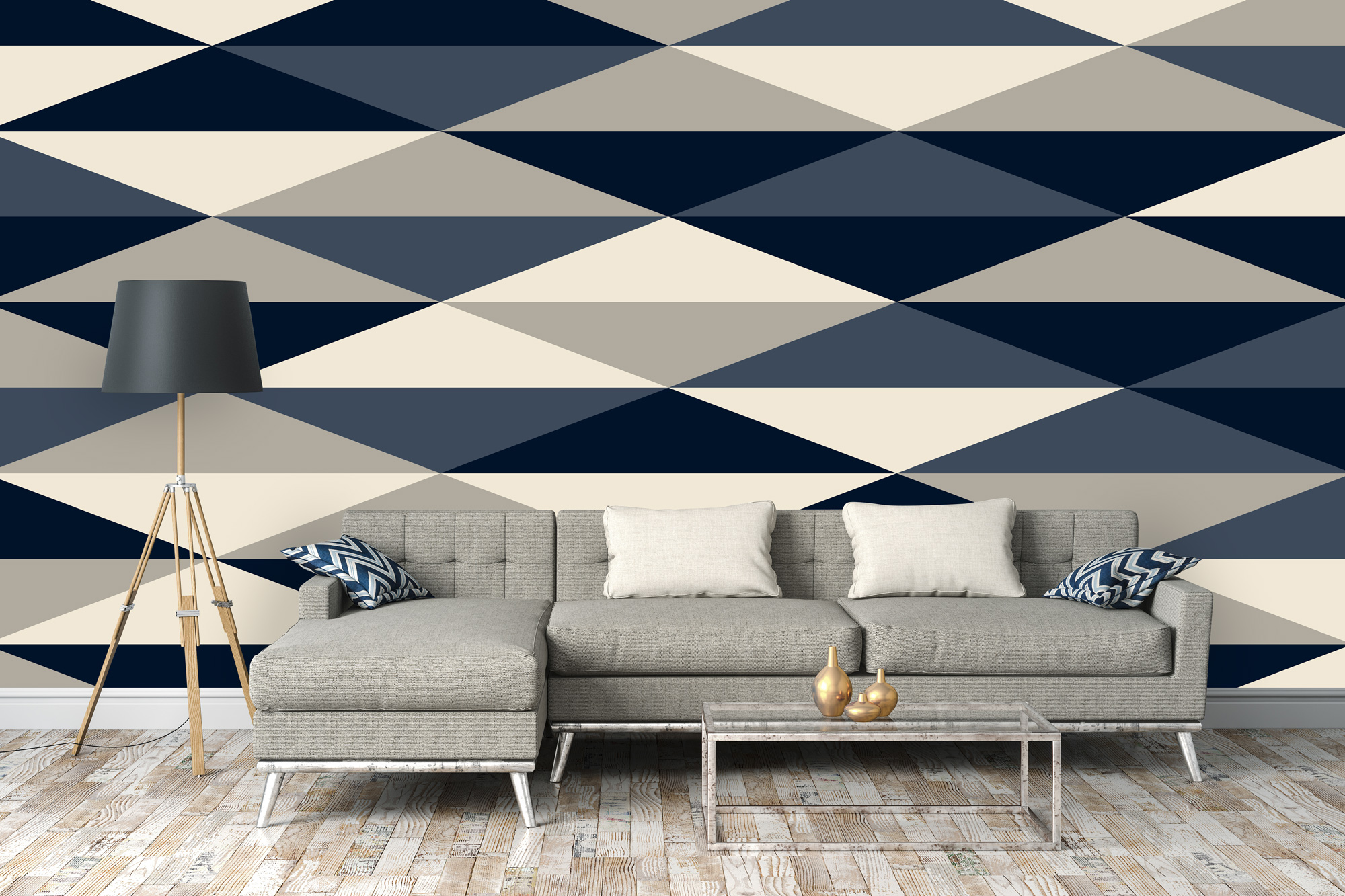 Repeat Pattern Geometric Wallpaper
