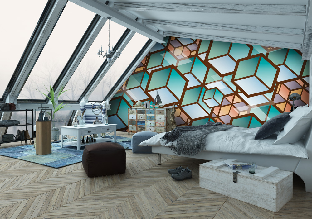 attic-wallpaper-guest-bedroom-ideas