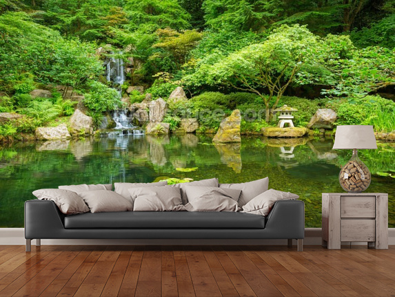 Garden wall murals garden mural wallpaper for Mural garden