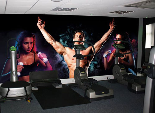 Gym Bodybuilder wall mural