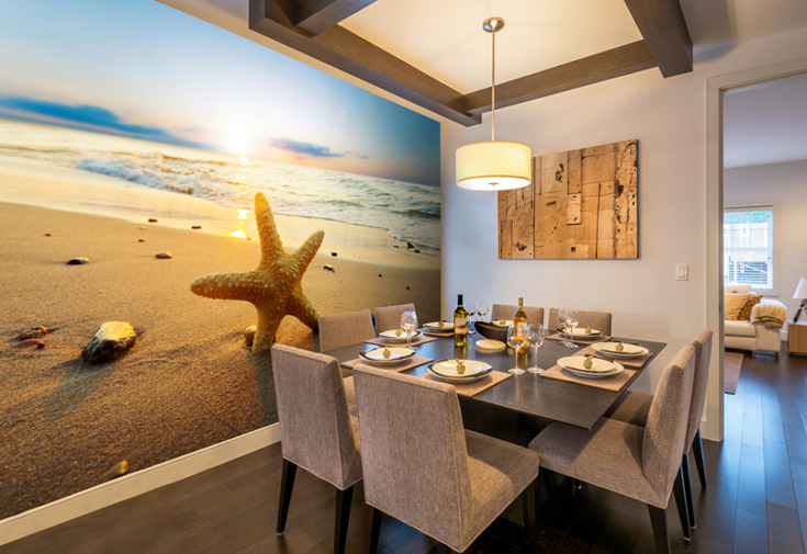 Beach-wall-mural-in-dining-kitchen