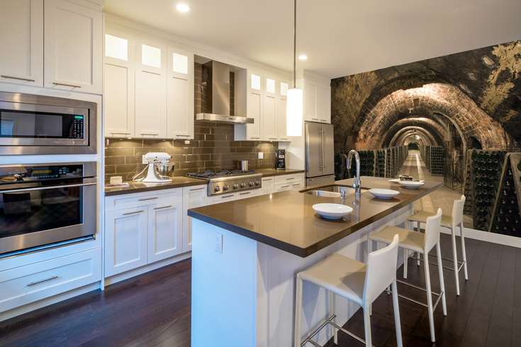 Wine-celler-wall-mural-in-kitchen