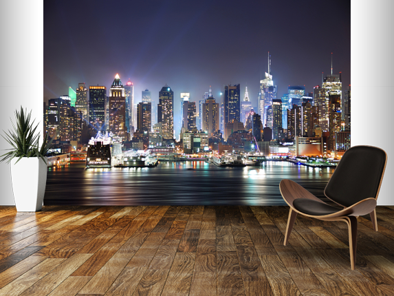 Manhattan-skyline-mural