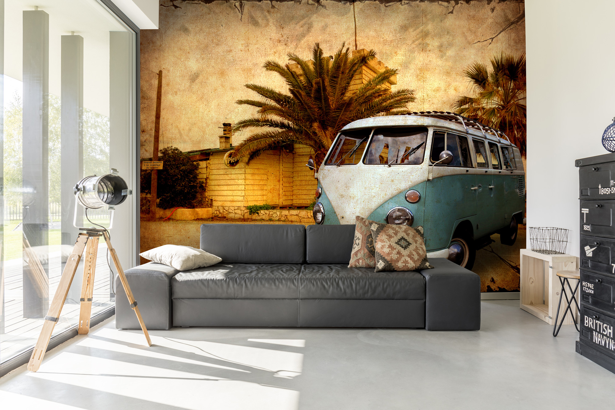 Campervan retro wallpaper