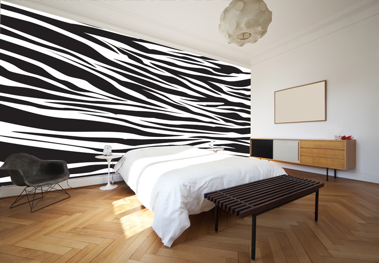 Zebra-print-striped-wallpaper