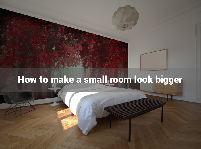 how to make small bedroom look bigger wall murals and wall decor by wallsauce 21098