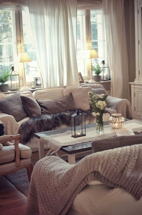 layering interior design at winter