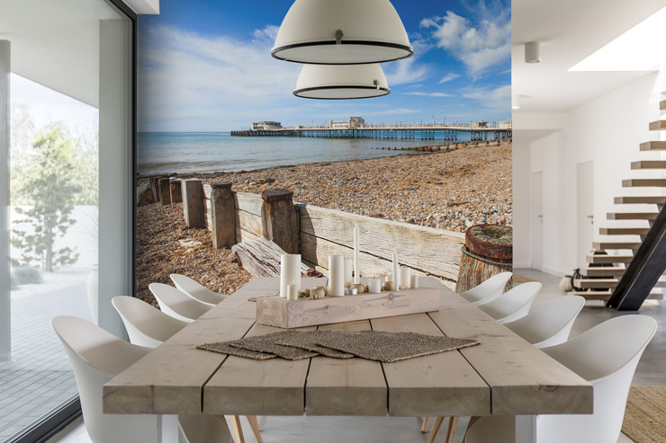 worthing_pier_mural_in_dining_room