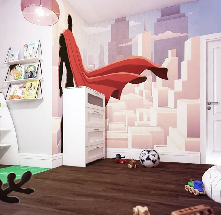 superhero-mural-in-little-boys-bedroom
