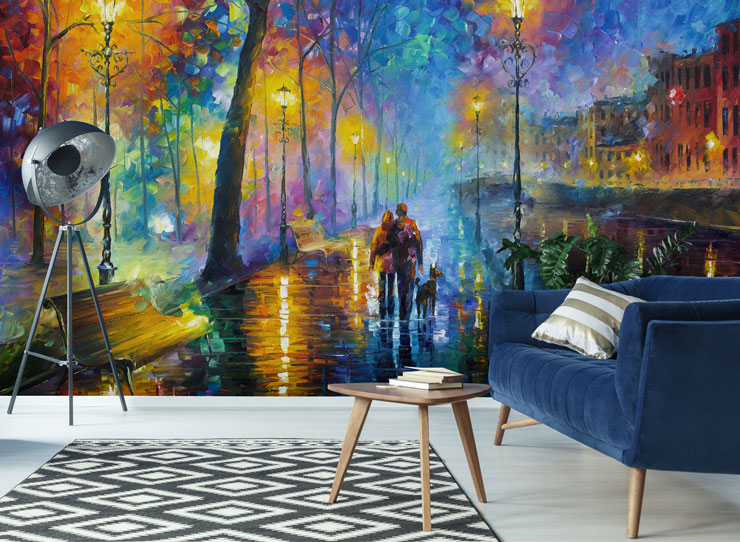 Melody-of-the-night-wall-mural-by-Leonid-Afremov-at-Wallsauce