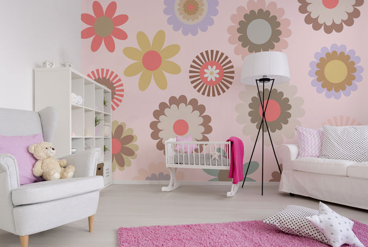 patterned-wallpaper-in-nursery