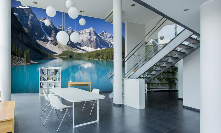 Mountain-wallpaper-in-office