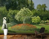 Jeanne Marie Lecadre in the Garden, 1866 (oil on canvas) mural wallpaper kitchen preview