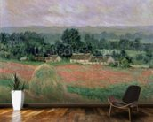 Haystack at Giverny, 1886 (oil on canvas) wall mural kitchen preview