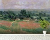 Haystack at Giverny, 1886 (oil on canvas) wall mural in-room view