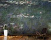 Waterlilies: Green Reflections, 1914-18 (central section) (oil on canvas) (see also 70302 & 56001) wall mural kitchen preview