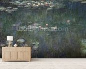 Waterlilies: Green Reflections, 1914-18 (central section) (oil on canvas) (see also 70302 & 56001) wall mural living room preview