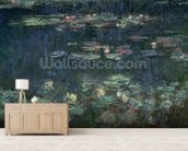Waterlilies: Green Reflections, 1914-18 (right section) (oil on canvas) (see also 70302 & 56004) wallpaper mural living room preview