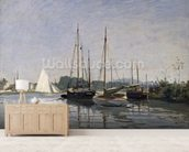 Pleasure Boats, Argenteuil, c.1872-3 (oil on canvas) mural wallpaper living room preview