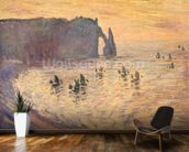 The Cliffs at Etretat, 1886 mural wallpaper kitchen preview