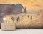 The Cliffs at Etretat, 1886 mural wallpaper living room preview