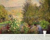 A Corner of the Garden at Montgeron, 1876-7 (oil on canvas) wall mural in-room view
