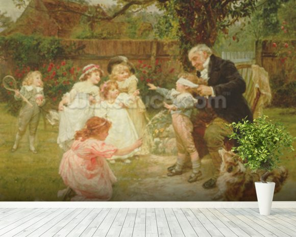 Blind Mans Buff wall mural room setting