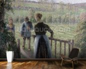 The Woman with the Geese, 1895 wallpaper mural kitchen preview
