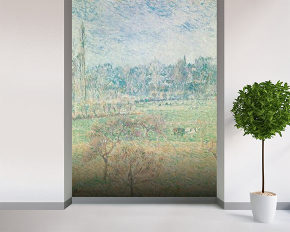 Autumn Morning, 1892 (oil on canvas) wallpaper mural room setting