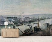 Saint-Sever Port, Rouen, 1896 (oil on canvas) mural wallpaper living room preview