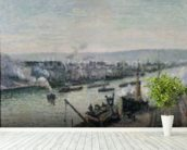 Saint-Sever Port, Rouen, 1896 (oil on canvas) mural wallpaper in-room view
