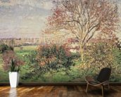Autumn morning at Eragny, 1897 (oil on canvas) wall mural kitchen preview
