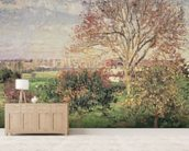 Autumn morning at Eragny, 1897 (oil on canvas) wall mural living room preview