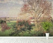Autumn morning at Eragny, 1897 (oil on canvas) wall mural in-room view