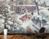 Effet de Neige a Montfoucault, 1882 (oil on canvas) mural wallpaper kitchen preview