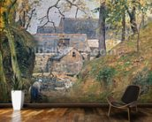 A Farm at Montfoucault, 1894 (oil on canvas) mural wallpaper kitchen preview