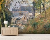 A Farm at Montfoucault, 1894 (oil on canvas) mural wallpaper living room preview